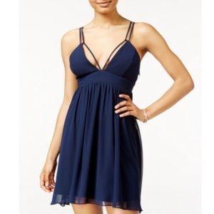 Jump Navy Blue💜HP💜Junior Fit & Flare Strap Dress